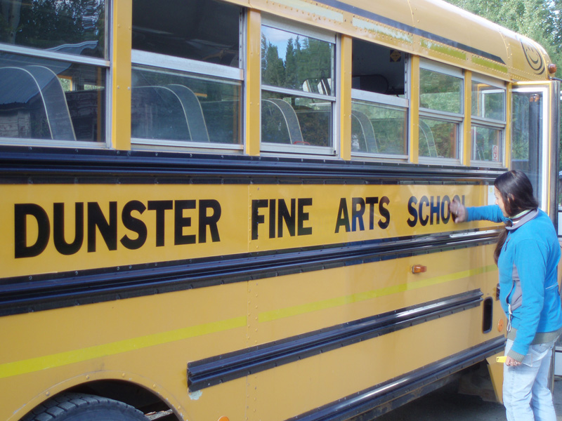 Dunster students crack books in canvas tents