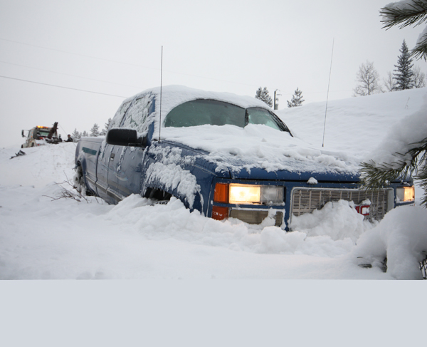 Highway 16 closed after snow dump