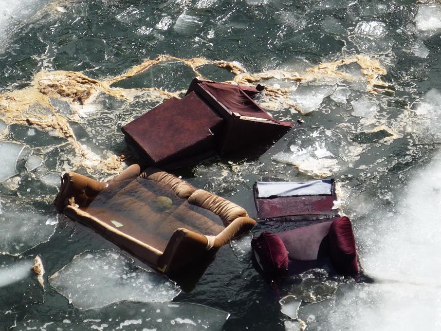 Illegal dumping in the Canoe River