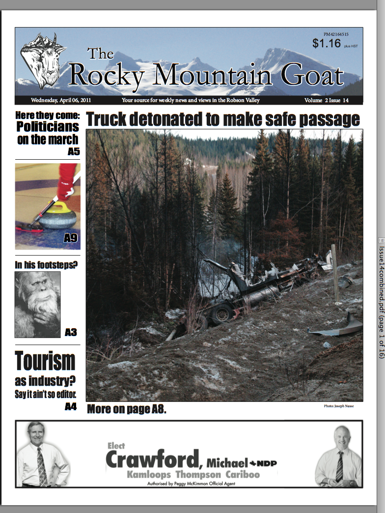 Welcome Subscriber! Click here for the April 6th Issue of The Goat