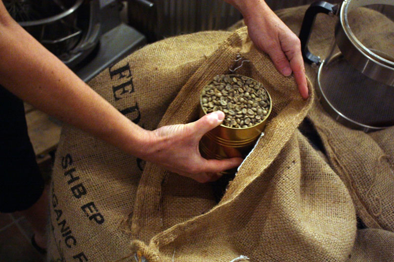 """From green beans to """"Tall Dark and Handsome""""  local coffee roaster gets creative"""