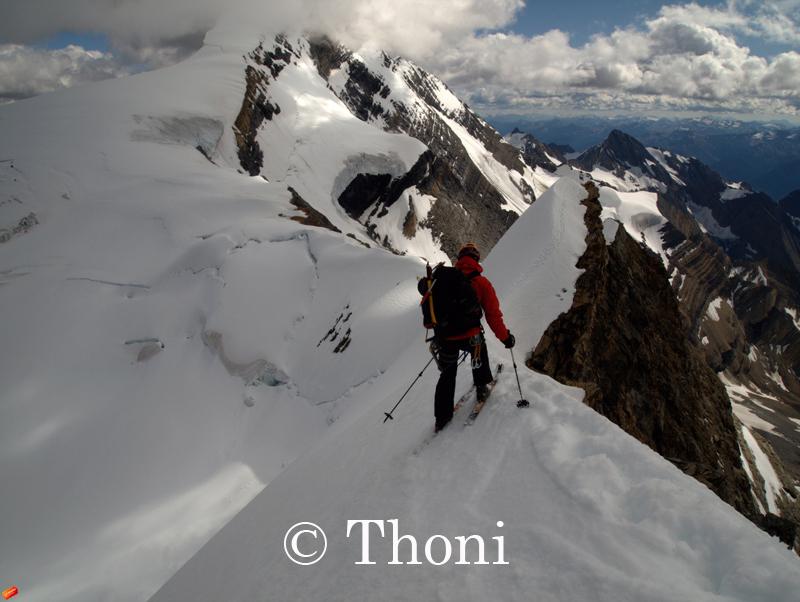 First Mt Robson Ski Descent of its kind!