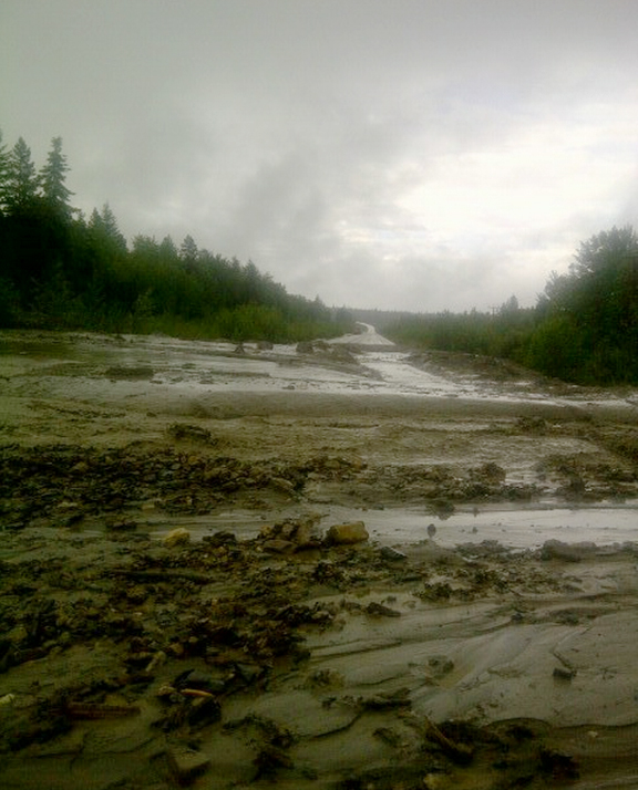Highway 16 flooding – update 5:45pm