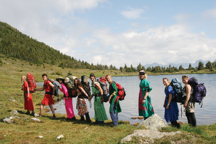 Ballroom Dress Hike Organized By The Newly Formed Alpine Costume Hiking Organization Of Universe Based In Dunster