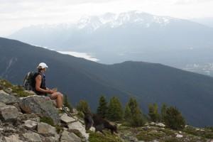 Relaxing after climbing Swift Mountain