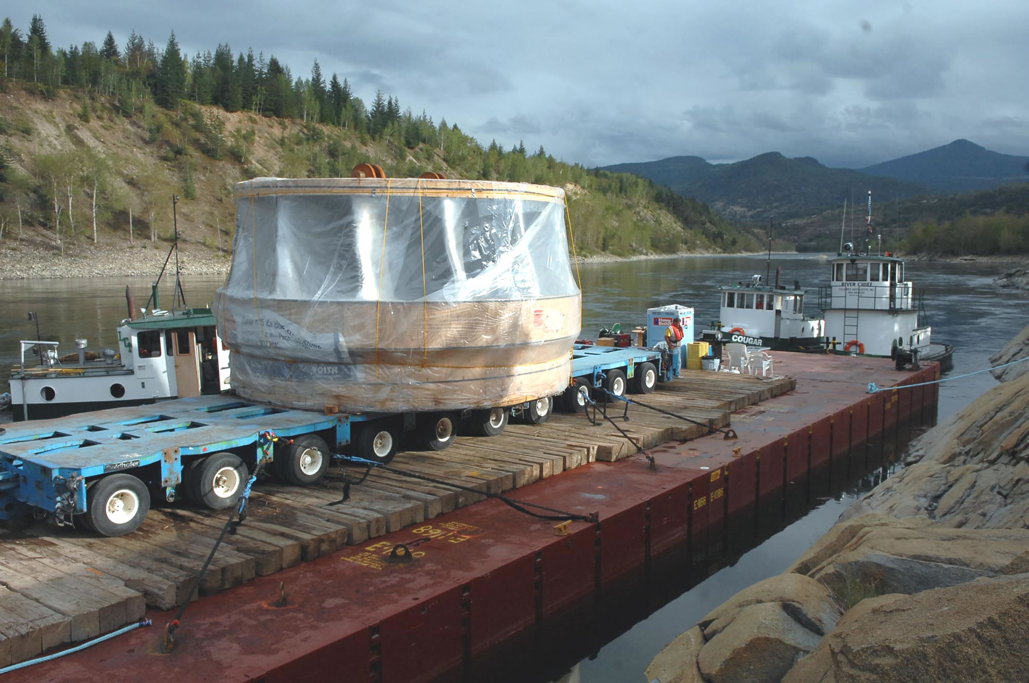 Strange things in the water:  BC Hydro Turbines