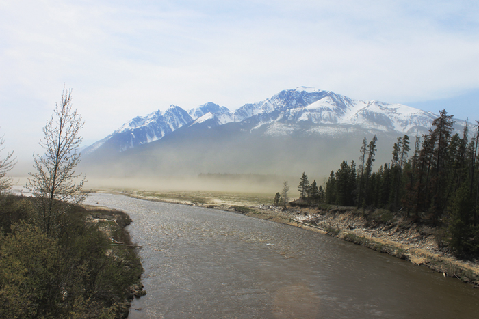 sand storm, Kinbasket Reservoir, Robson Valley, silica, silicosis, air quality, Valemount, Robson valley
