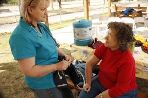 walk around the world blood pressure nurse