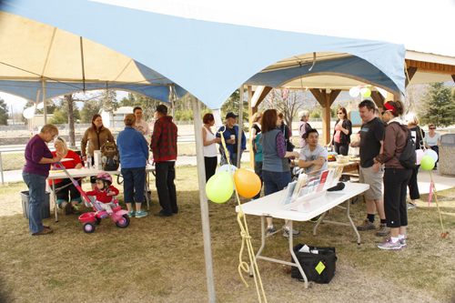 walk around the world event tent