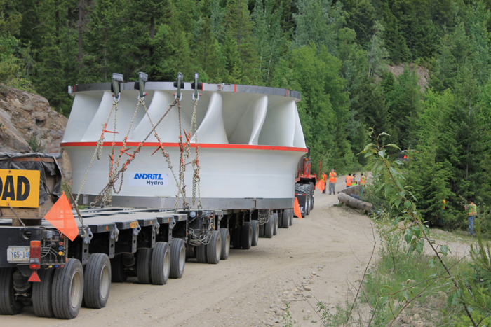 Giant Turbine moves through Robson Valley + videos