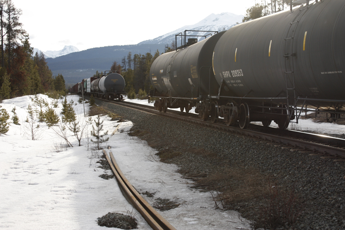 DOT-111 tankers, like those pictured, are capable of carrying dangerous goods, according to Transportation Canada's safety criteria. Transportation safety agencies in both Canada and the US, however, admit to safety flaws.