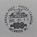McBride Post Office's Cancellation Stamp