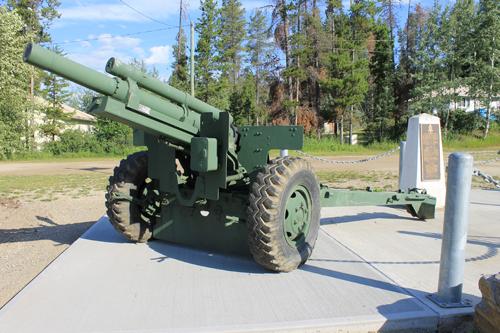 Valemount, Legion, Robson Valley, war vets, war veterans, cenotaph howitzer, howitzer