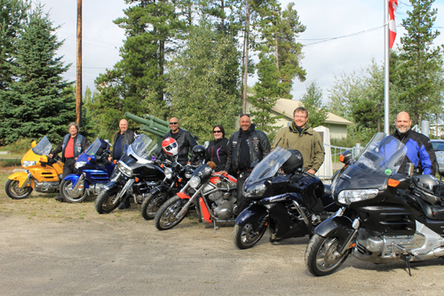 2013 Military Police National Motorcycle Relay Ride members stop in Valemount, BC