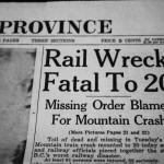 Valemount, Valemount Legion, Howtizer, Veterans, 1950 train crash