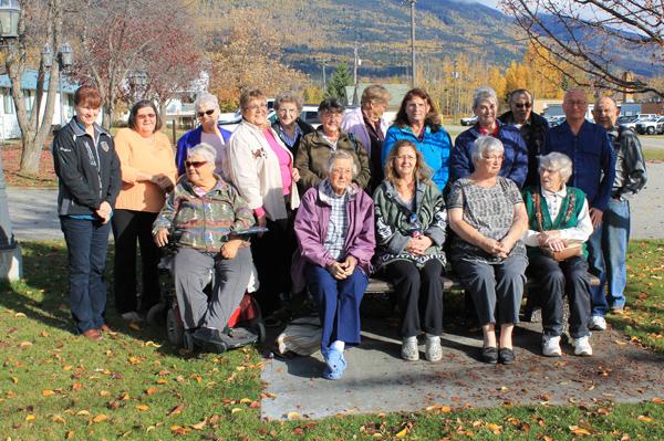Bench dedication at Beaverview Lodge