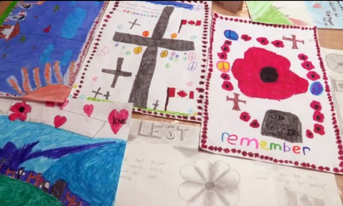 Remembrance Day video: elementary students at Valemount Legion