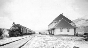 Valley Museum archive, train, mcbride train station, mcbride train, mcbride