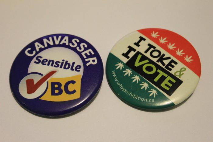 sensible BC, canvasser, button