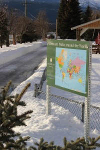 Valemount Walks around the World, walk, path, active, map