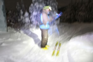 night skiing, 5 mile, 5 mile skiing, skiing, valemount at night, valemount lights