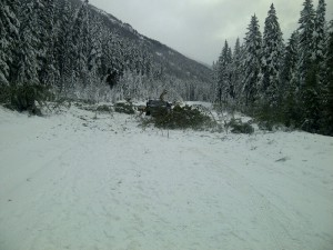 avalanche, snow, road, highway