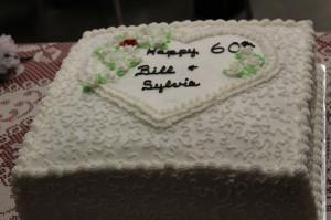 Bill Arnold, Sylvia Arnold, anniversary, 60th anniversary, cake
