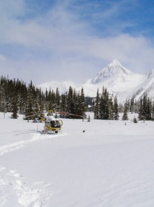 helicopter, heliskiing, snow, winter