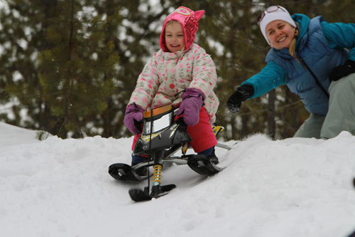Family Day, family day, snow, skiing, sled, sledding, toboggan, tobogganing, family, winter recreation, winter activity