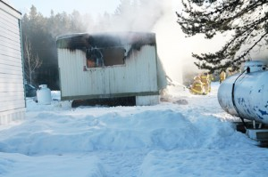 trailer fire, fire, rescue, fire services, emergency services