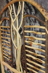 diamond willow, bed, bed frame, head board, art, craft, wood art, robson valley indoor market, market, indoor market, local, business