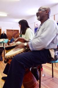 drum, drumming, drum circle, tete jaune, tete jaune hall, valemount arts council, granville johnson