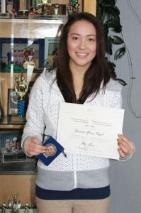 jasmine vogel, governor general academic award, bronze medal, academic, win, winning, excellence