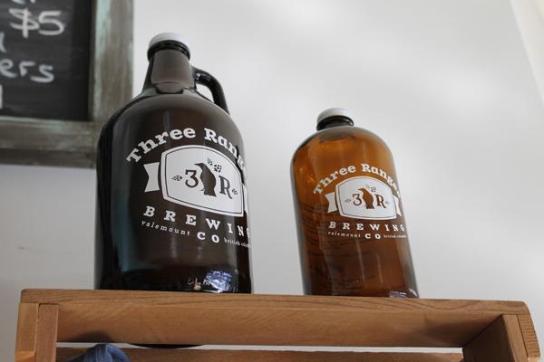 three ranges brewery, logo, beer, local, business, brew, brewery, bottle, beer, jug