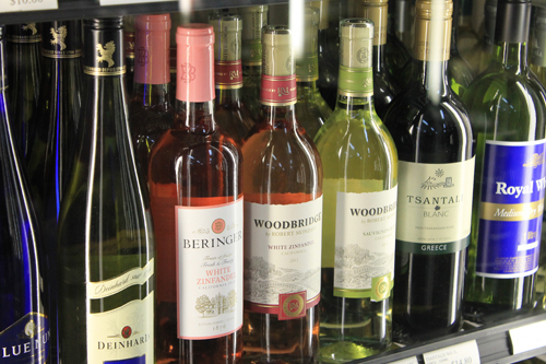 wine, liquor, shelf, bottle