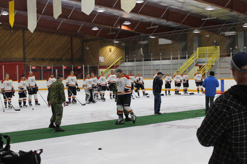 McBride hockey, military, old timers, hockey