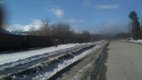 Open top coal web train rail CN