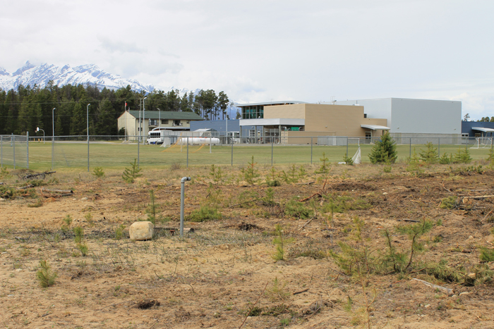 Valemount Secondary school garden location