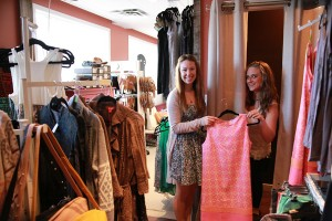 Caitlin Beddington and Melanie Chitty pose in their newly renovated retail space at Unique Boutique.