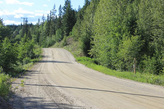 Packsaddle E Canoe gravel forest service road kinbasket