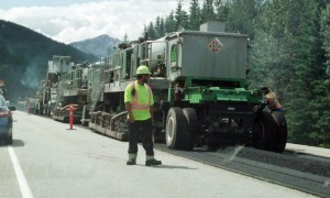 road resurfacing red pass to alberta border 2014