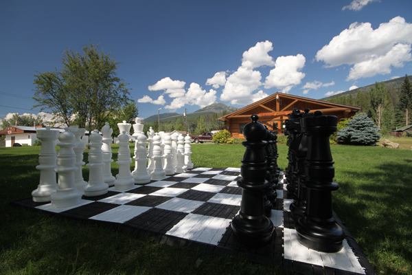 Valemount library outdoor chess checkers (2)