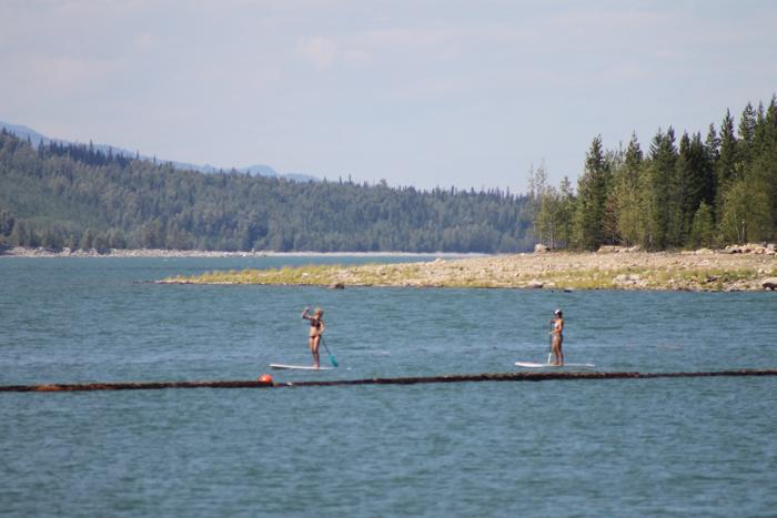 kinbasket paddleboarders