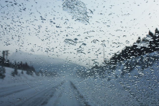 ice, road, driving, highway, hwy, vehicle, windshield