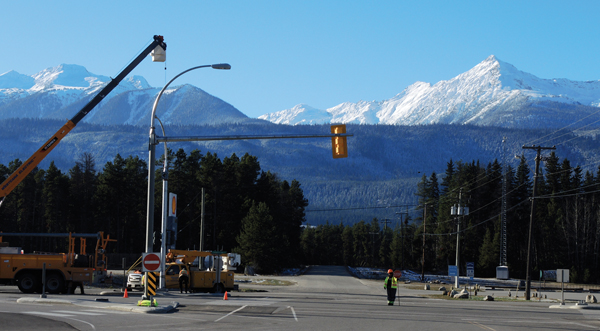 First traffic lights & new infrastructure