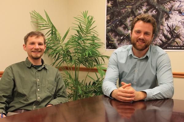 Cam Bell (left) & Jordan Hammond (right) Village of Valemount interns