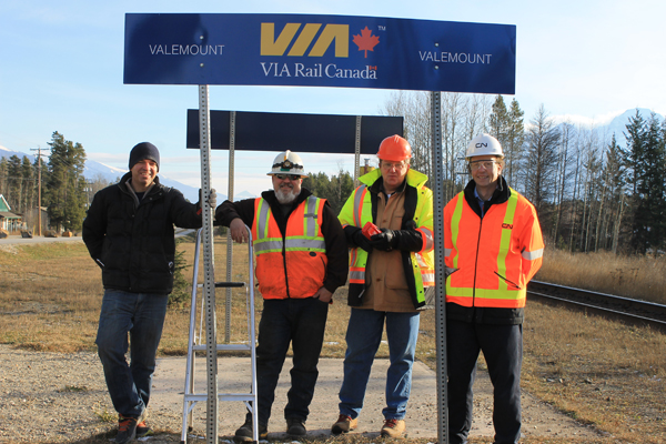 New Via Rail Valemount sign (2)