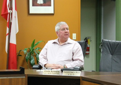 John Aitken seen in Village Chambers during the inauguration of the new Council in December.