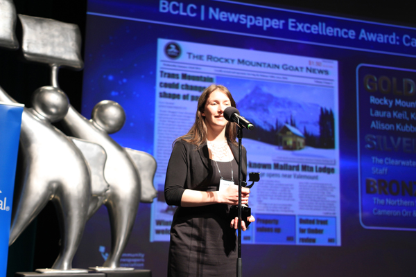 The Goat  brings home gold at B.C.-Yukon newspaper awards