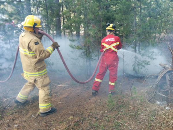 Youth get a lesson after starting grass fire